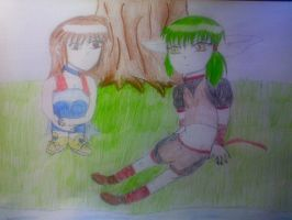 My OC and Kisshu by FairyTailForever123