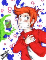 Fry :Futurama Anime style: by AsuHan