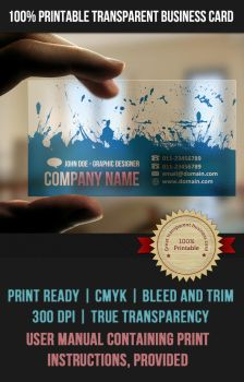 Transparent Business Card by AnchorPointHeshan