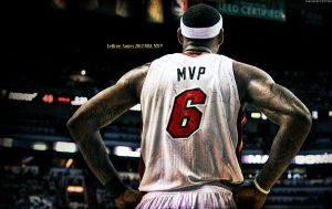 LeBron James 2012 NBA MVP Wallpaper by rhurst