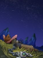 resting under the meteor shower by Junryou-na-Kokoro