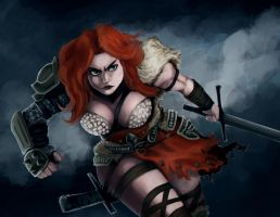 Diablo 3 fanart barbarian by Crowtex-lv