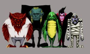 Universal Monsters by MadMosquito