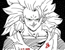 Goku ssj3 Sketch by edwinj22