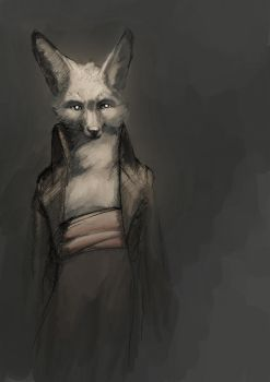 Nightfox Portrait November by Zethelius