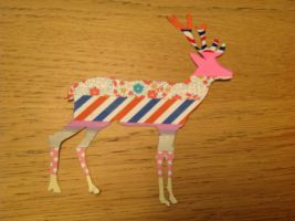 A deer out of washi tape by amarie6678