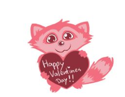 V-Day raccoon by Roozke112