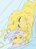 Sweet Dreams- Diana and Danu by FairyAmethyst