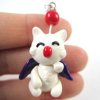 Moogle necklace by TrenoNights