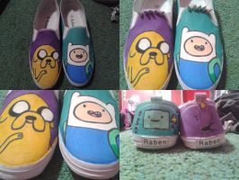 Finn and Jake shoes by playgr0undeyes