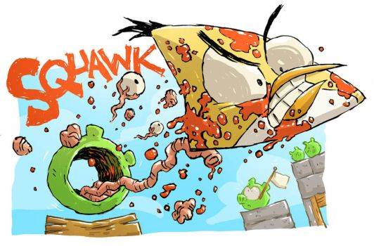 Angry Birds Sketch by DerekHunter