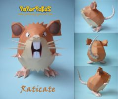 Raticate Papercraft by Olber-Correa