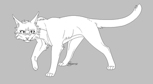 Cat lineart .FREE TO USE. by CHAR-C0AL