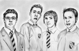 the inbetweeners by chairboygazza