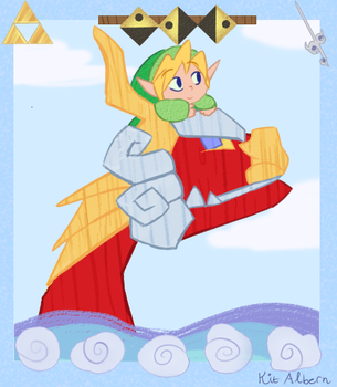 Wind Waker Panel by WhiteKitsuneKnight