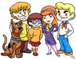Scooby and the Gang Commission by PhillieCheesie