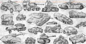 Sketches Land Vehicles by NOMANSNODEAD