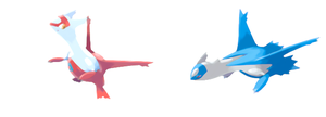 Latias and Latios by scriptureofthescribe