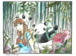 bamboo forest by AndrewLaFish-Arts