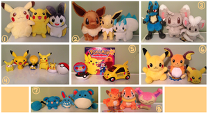 My Pokemon Plushie Collection! by ChibiArmin