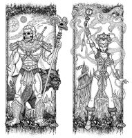 Skeletor and Evil-Lyn by jonito
