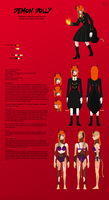 Sho-Time: Demon Dolly Ref Sheet by Maneir
