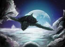 Gamera in the moonlight by gfan2332