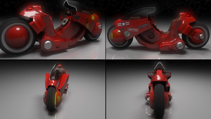Kaneda's bike final renders by SooSiaal