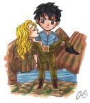 Chibi Comission Bellamy Clarke Griffin The 100 by Valaquia