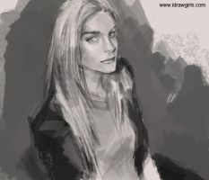 Sketch of a woman by XiaMan
