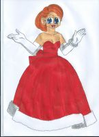 Request: Christmas Gown Elora by animequeen20012003