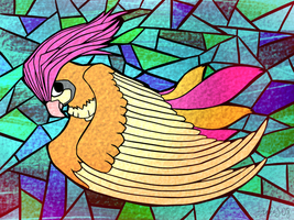 Stained Glass Pidgeotto by zurisu