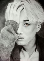 EXO Kai Drawing by diamondnura