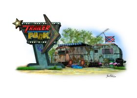 Trailer Park Band Backdrop and Logo by JWraith