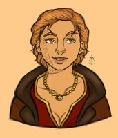 Female Varric by Fastforwardmotion
