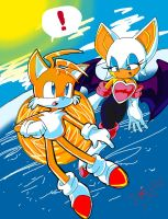 Tails and rouge by jmynstyx