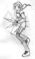 Yuffie Twirling Shuriken by dragonaeve