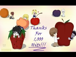 Death Note-1000 Pageviews by Koriiko-chan