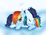 rainbow dash y soarin by Asamy753