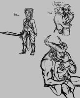 Dragon Age II Sketches by Gone-Batty