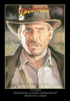Sketch Card-Indiana Jones 1 by TrevorGrove