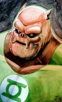 A Portrait of Kilowog by HectorBarrientos