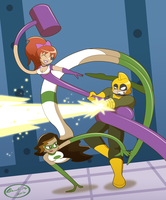 Elastic Girls vs. Gold Fist by gamepal