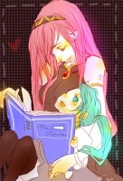 Vocaloid-story time.. by leojiaz