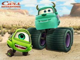 Monster Truck Mike and Sulley by hinxlinx