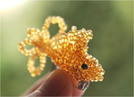 Beaded fish I. Goldfish by MaGeXP