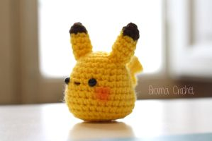 Little Pikachu - amigurumi doll by BramaCrochet