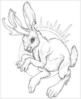 Jackalope by VisionCrafter