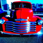 Red Chevrolet by LilArtist23