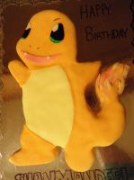 Charmander Cake! by Stephanefalies
